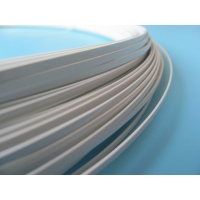 Quality Aluminum 2.0mm Flat Coated Wire White With Custom Shape Hardness for sale