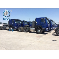 Quality New Sinotruk Howo Tractor Truck HW 79 High Roof Cab Two Beds102 Km/H Prime Mover Used With Semi Trailer for sale
