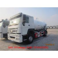 Quality HOWO Vacuum Sewage Suction Truck / Sinotruk 4.58 L Displacement 4x2 10 - 16m3 Sewer Cleaning Truck for sale