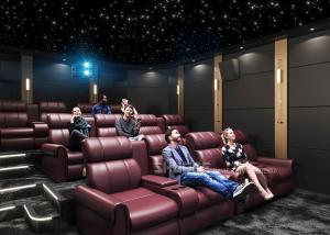 Quality Electric Leather Sofa Home Cinema System With Surround Speaker Subwoofer Projector For Movies for sale