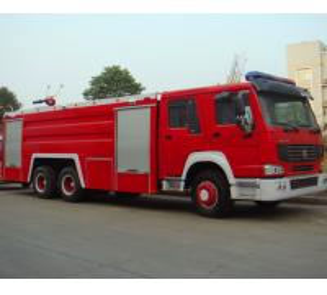 Quality 6x4 10m3 Fire Fighting Truck , Diesel Powered Heavy Duty Trucks for sale