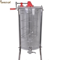 Quality Plastic Acrylic 2 Frame Honey Extractor Transparent Manual Gear for sale