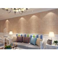 Quality Soft Non - Woven 3D Texture Brick Effect Wallpaper For Living Room Decoration , CSA Listed for sale