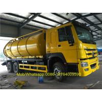 Quality SINOTRUK Howo 6x4 18CBM Vacuum Suction Sewer Cleaning Sewage Tanker Truck for sale