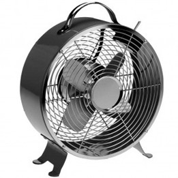 Saa 20cm black retro electric fan table fan 2 speed Motorized table