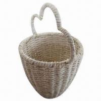 China Fruit Gift Basket/Storage Box, Handmade, Corn Rope, Eco-friendly, Comes in Various Colors and Styles on sale