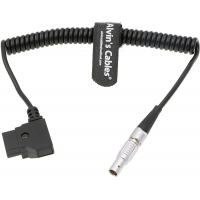 Quality 2 Pin Lemo To D-TAP Power Coiled Cable for Bartech Focus Device Receiver for sale