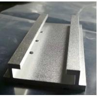 Buy cheap Sandblasted Silver Anodized Aluminum Extrusion Parts with Machining Holes from wholesalers