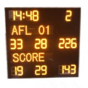 Buy cheap Aluminum Alloy AFL Scoreboard , Led Football Scoreboard With IP65 Waterproof from wholesalers