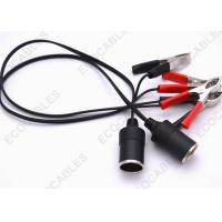 Quality Copper Conductor DC Power Extension Cables With Alligator Clip / L-33 Jacket for sale