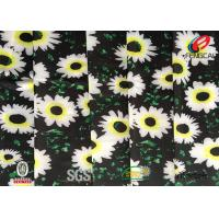 Quality Digital Printed Polyester Spandex Blend Fabric , Floral Lycra Swimwear Fabric for sale