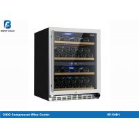 Quality Stainless Steel Dual Temperature Wine Fridge , Small Dual Zone Wine Refrigerator SF-54D1 for sale