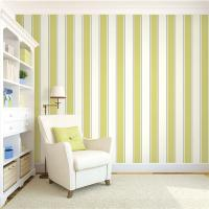 Quality Top quality waterproof mould proof stripe design PVC vinyl wallpaper for sale