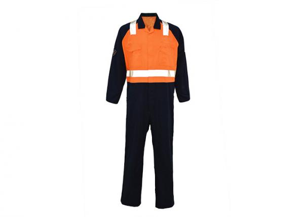 Buy Orange Navy Reflective Safety Wear , Industrial Safety Clothing Australian Size / Design at wholesale prices