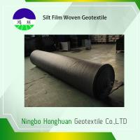 Quality Grab Tensile Geotextile Fabric For Roads , Black 136g Woven Polyethylene Fabric for sale