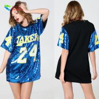Quality Number 24 Ladies Sequin Dress / Blue Adults Sequin Hip Hop Dance Costumes for sale