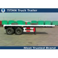 China 2 Axles 20 foot flatbed semi trailer , flatbed trailer truck equipment on sale