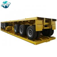 China steel extendable  container  low flatbed semi truck  tractor trailer on sale