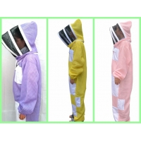 Quality New Type Three layer Ventilated Bee Suit Yellow , Pink, Purple Color for sale