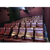 Quality 12 HZ Vibration Rate Comfortable Red Cinema Seats in Special Effects With Cup Holder for sale