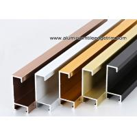 Quality Metal Type Aluminium Wall Picture Frame Mouldings With Brushed Sides for sale