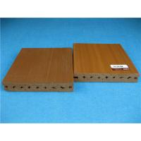 Quality UV Resistant Plastic Outside Wpc Decking Flooring With Smooth Brushed Surface for sale