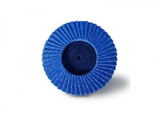 """Buy 4.5"""" 200 Grit  Mini Flap Disc For Sanding Wood Zirconia Oxide Type R Blue Color at wholesale prices"""