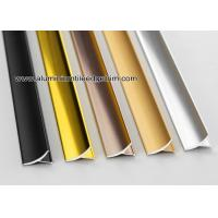 Quality Aluminum Inside / Internal Tile Corner Trim / Decorative Strip For Cleading Panel for sale