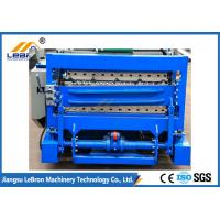 Buy cheap 7.5 KW Blue Color Double Layer Roll Forming Machine For Corrugated Sheet And IBR from wholesalers