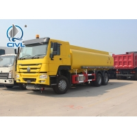 Quality SINO TRUK CHASSIS 10 Wheels 6x4 20000 L Capicaty Oil Transport Fuel Tanker Truck Yellow color euro II for sale