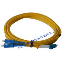 Quality SC To LC SM Optical Fiber Patch Cord 9/125 Single Mode 3.0mm For WAN Systems for sale
