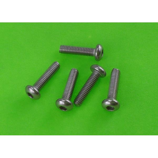 Buy Carbon Steel Round Head Screws Tapping Machine Threads Zinc Finish  M2 to M6 at wholesale prices