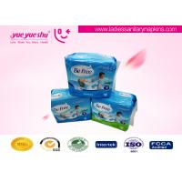 Quality Ladies 270mm Ultra Thin Sanitary Napkin With Blue Core , Daytime Use Cotton Sanitary Pads for sale
