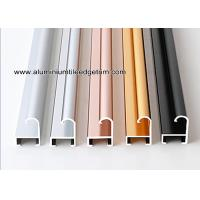 Quality Metal Modern Type Aluminium Picture Frame Mouldings With Narrow Curved Shape for sale