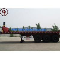 China HOWO 100 Tons Lowbed Semi Trailer Truck , 9 Tires Flatbed Tractor Trailer on sale