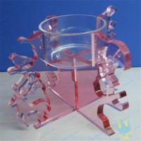 Quality CH (18) Acrylic tube candle holder for sale