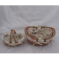 China willow basket fruit gift basket drawing empty on sale