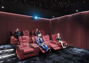 Quality Red Electric  Leather Cinema Sofa  For Home  Cinema System With Screen / Speaker/ Projector for sale