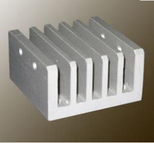 Quality Steel Polished / Electrophoretic Aluminum Heatsink Extrusion Profiles With Fabricating for sale