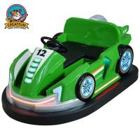 Buy cheap Green Bumper Cars For Toddlers / Comfortable Carnival Bumper Cars from wholesalers