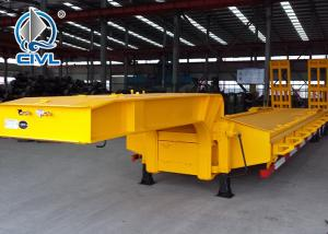 Quality HOWO 3 Axles Semi Trailer Trucks , Flat Low Bed Trailer 30 Ton for sale