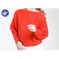 Quality Boat Neck  Womens Knit Pullover Sweater Lady Sexy Drop Shoulder Ottoman Knitted Jumper for sale