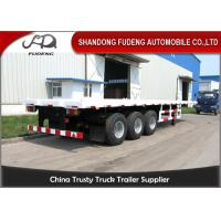 China 2 / 3 Axle 20 Foot Flatbed Trailer/ Truck Flatbed TrailersWith Container Lock on sale