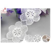 Buy cheap Azo Free Dyeing OEKO - TEX Nylon Lace Trim / Tulle Floral Embroidered Mesh from wholesalers