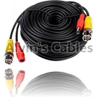 Quality 20 Meters BNC Coaxial Cable DC Power Cable Black Color For CCTV Camera DVRs for sale