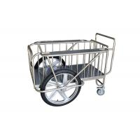 Quality Stainless Steel Medical Drugs Trolley With Two Big Wheels / Two Small Casters for sale