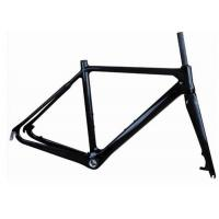 Quality Light Weight UD Finishing Carbon Cyclocross Bike Frames 700C Disc Brake T700 for sale