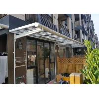 Buy cheap Aluminium Frame Polycarbonate Door Canopy / Outdoor Patio Cover Size Customized from wholesalers