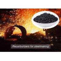 Quality Low Sulfur Graphite Recarburizer / Calcined Anthracite Coal For Steel Making for sale