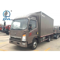 Quality HOWO Light Duty Cargo Truck 5 ton Van Truck  Commercial Long Distance Cargo Van Truck 4x2 Drive Wheel for sale